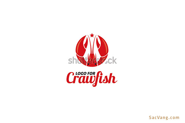 mẫu logo hình con tôm đẹp