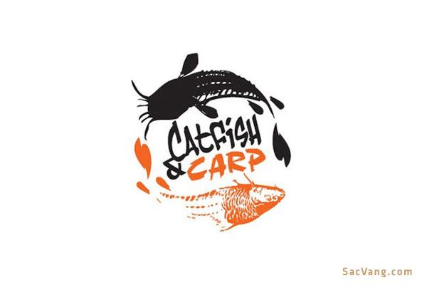 Mẫu Logo Con Cá Chép Đẹp
