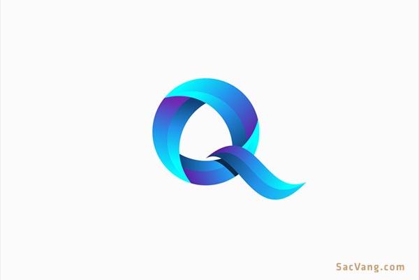 mẫu thiết kế logo chữ q