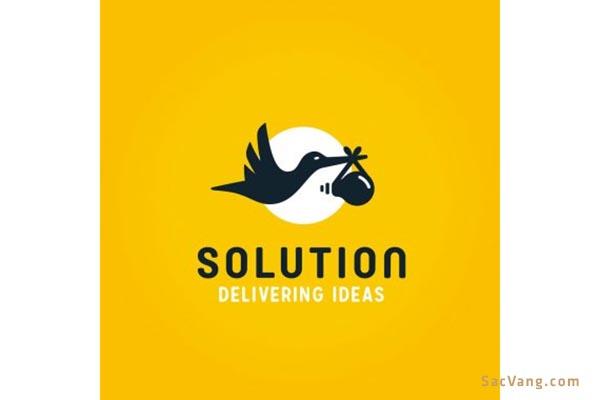 mẫu thiết kế logo con cò đẹp