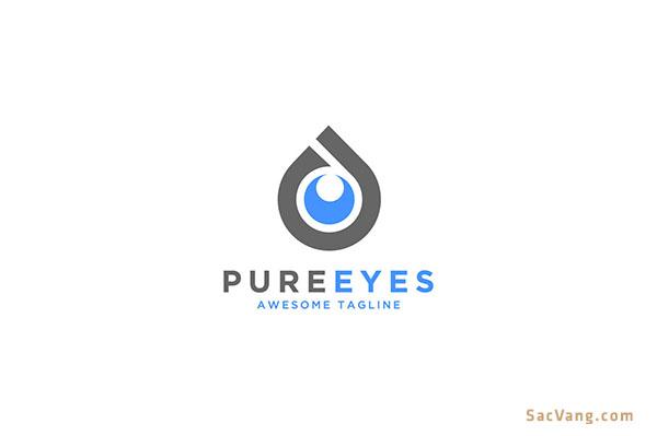 Mẫu Logo Đôi Mắt Đẹp